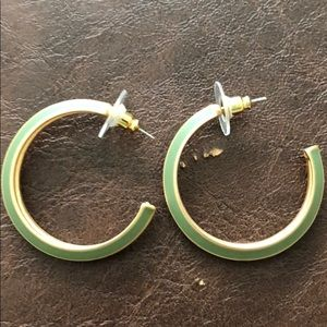 Green and gold hoops